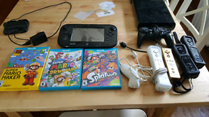 Wii u with games and accessories for sale