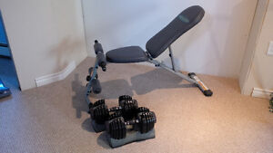 Bowflex Dumbbells and Bench
