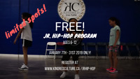 FREE HIP-HOP CLASSES FOR KIDS AGES 6-12