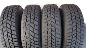 Set of 4 Hankook iPike RC01 185/70/14 tires with Rims