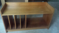 Genuine Teak Teck vintage retro entertainment unit shelf table