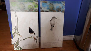 2 beautiful bird canvases from macaruthers