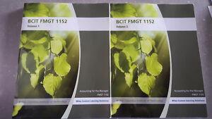 BCIT FMGT 1152 Accounting Principles Textbooks Vol. 1 & 2