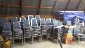 100 + Hall chairs for sale $1.00 a piece