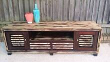 Large TV Entertainment Unit Stand Cabinet Distressed Timber Coogee Eastern Suburbs Preview