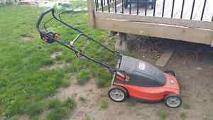 Cordless lawnmower for sale.