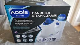 ADDIS Handheld Steam Cleaner 10-in-1,.Unopened
