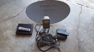 Shaw dish with 2 receiver