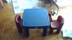 Little Tykes kids table and chairs