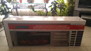 "Unopened 48"" Electric LED fireplace"