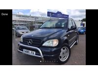 1998 S REG MERCEDES ML320 4x4 7 SEATER!!! CHEAP BARGAIN CAR WITH NEW MOT SUPERB DRIVE CHROME BARS