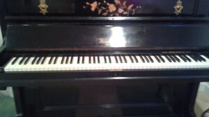 Antique Black Upright Piano