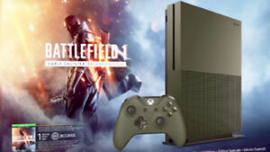 army green battlefield one special edition xbox one s 1TB