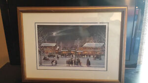 "Peter Robson Limited Edition Print ""Village Christmas"""