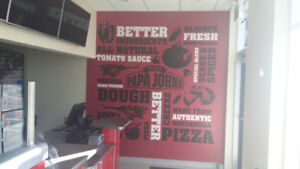 Commercial Graphics, wallpaper, mural and paint