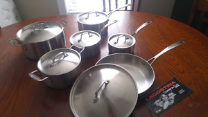 12-pc Stainless Steel Lagostina Cookware Set