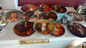 25 Norman Rockwell plates. Mint.