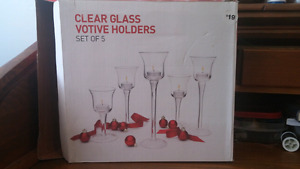 Set of 5 Votive candle holders $10