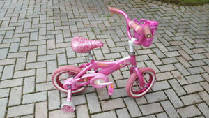 Girl's Pinkalicious themed bike with training wheels