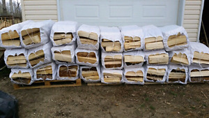 XL SPRUCE/ PINE  FIREWOOD BAGS! 90LBS  $20