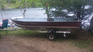 14' ALUMINUM BOAT, TRAILER, DOWN RIGGER PACKAGE