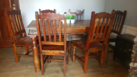 Comapct Sized Table and 6 Chairs
