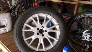 5x108 Alloy wheels and new 225/60R17 snow tires