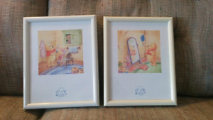 Winnie the Pooh picture wall art pair