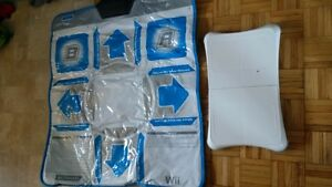 Wii DDR pad and fit balance board $20