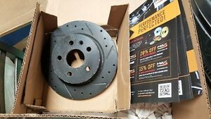 Chev Cruze LTZ Rear Rotors *N I B * Black Chrome Slotted Drilled