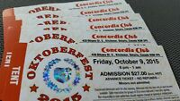 6 Tickets - Concordia Friday Oct. 9th
