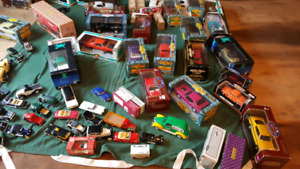 Die cast car collection with cases