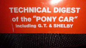 FORD MUSTANG TECHNICAL DIGEST OF PONY CAR INC GT AND SHELBY Kitchener / Waterloo Kitchener Area image 2