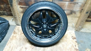 Black Rims with Lexani tires Kitchener / Waterloo Kitchener Area image 2