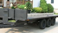 30 ft x 8 ft solid  3 axel CAR TRAILER