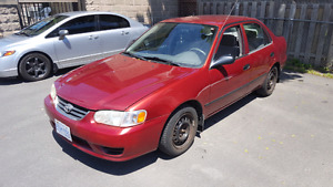 01 Toyota Corolla CE selling  AS IS