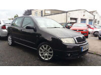 2006 06 SKODA FABIA 1.9TD VRS 5 DOOR IN BLACK.STANDARD EXAMPLE.2 KEYS.6 SPD GBOX