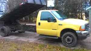 2001 FORD DUMP BODY AND DUMP TRAILER COMBO