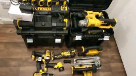 Dewalt 18v tools batterys charger, drill, grinder,multitool,sds,radio