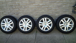 205/55/16 Goodyear Winter Snow Tires Volkswagen 5x112 Bolt Wheel