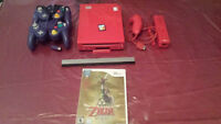 Nintendo Wii Red (soft modded/Hacker) + 4 games,cable & pad