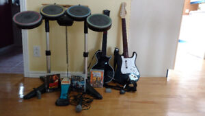 Rock Band 2 + AC DC + Guitar Hero 3 + Kit Complet pour PS3