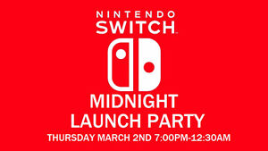 Nintendo Switch Midnight Launch Party at Iceman Video Games
