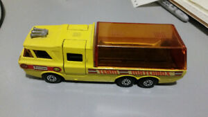 1972 Die Cast Matchbox Super Kings K-7 Racing Car Transporter