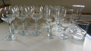 Olympic glasses vintage collection