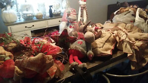 huge lot of rustic north pole inspired Christmas decor/ornaments