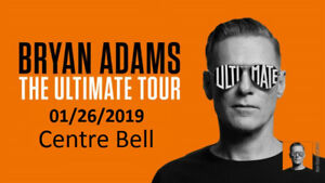 2 BILLETS - 2张门票 - 2 Tickets - BRYAN ADAMS   01/26/2019 -