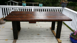 Order your custom built harvest table - made from reclaimed wood
