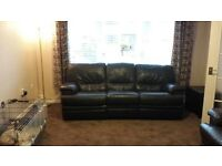 Dark Brown Leather Reclining Sofas