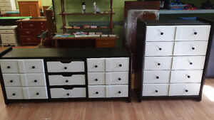 Just Painted Black & White solid dressers $189 or $359 a set